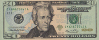 20 Dollars Serie 2006 USA Pick 526-K unc/k...