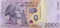 2.000 Leke 2007 Albanien Pick 74 unc/kasse...