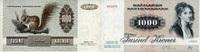 1.000 Kroner (1992) Dänemark P.53e 1/1-  350,00 EUR  zzgl. 4,50 EUR Versand