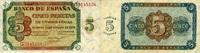 5 Pesetas 10.8.1938 Spanien P.110a unc/kassenfrisch  224.93 US$ 200,00 EUR  +  17.99 US$ shipping