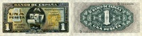 1 Peseta 04.9.1940 Spanien P.122a unc/kassenfrisch  125,00 EUR  zzgl. 4,50 EUR Versand