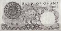 1.000 Cedis ND(1965) Ghana Pick 9 A unc  710,00 EUR kostenloser Versand