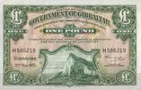 1 Pound  Gibraltar Pick 18c unc/kassenfrisch