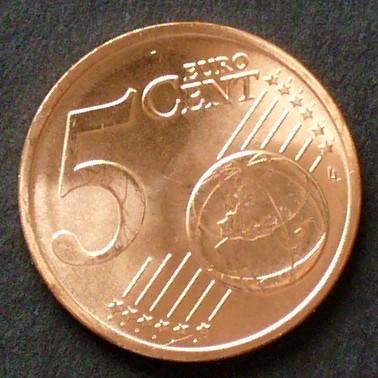 5 Cent 2002 Italien S230 Unc Ma Shops