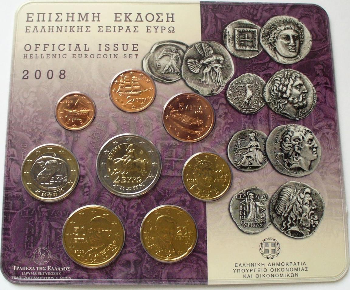 001 2 Euro 2008 Griechenland Kms 2011 Im Original Blister Mit 2