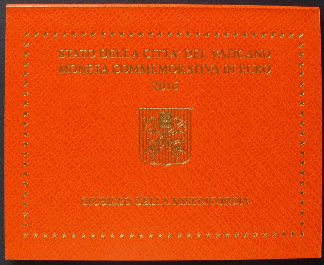2016 Vatikan Original Folder Ohne Münze Jubiläum Der