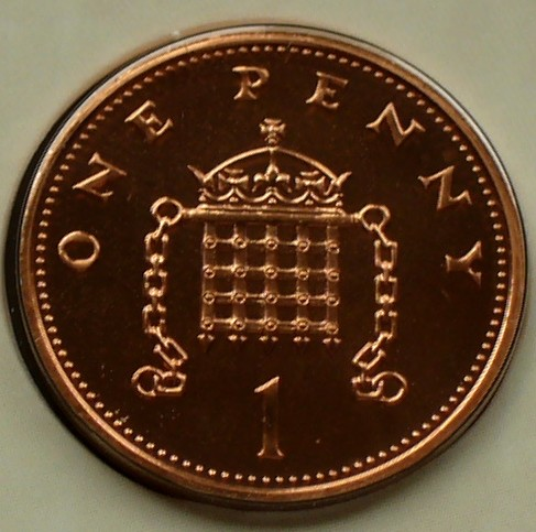 1 Penny 2000 Grossbritannien S 479 a / E, K galv  / Elizabeth II  -  Fallgitter UNC