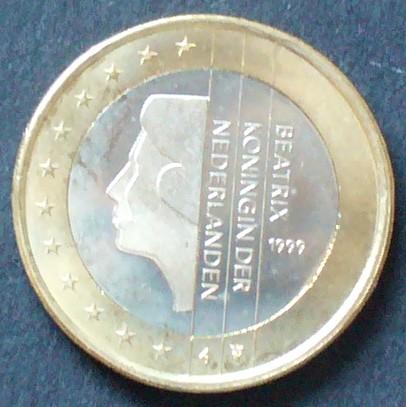 1 Euro 1999 Niederlande S1231 Bime Königin Beatrix Unc Ma Shops