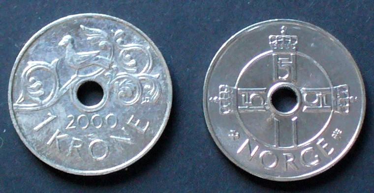 1 Krone 2000 Norwegen S108 K N Vogel Auf Rankwerk Ef Ma Shops