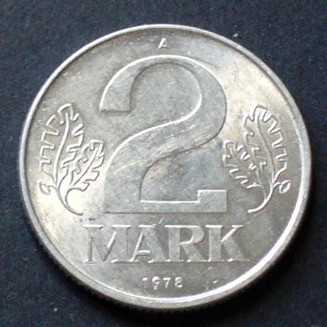2 Mark 1977 A Ddr S16 Al Staatswappen Wert Zwischen