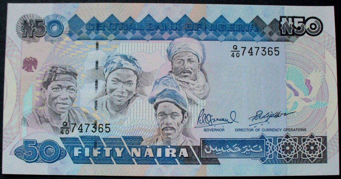 50 Naira Nd 1991 Nigeria P 27 C
