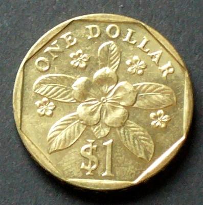 1 Dollar 1995 Singapur S81 Al N Bro Staatswappen Madagaskar