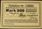500 Mark o.D. Sachsen - Chemnitz Moll-Werk...
