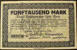 5.000 Mark 15.2.1923 Sachsen - Chemnitz Mo...