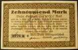 10.000 Mark 15.2.1923 Sachsen - Chemnitz M...