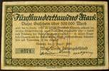 500.000 Mark 4.8.1923 Sachsen - Chemnitz M...