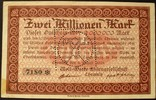 2 Mio. Mark 4.8.1923 Sachsen - Chemnitz Mo...