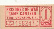 1 Cent 2.WK USA Geldschein für Kriegsgefan...