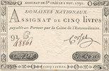 5 Livres 1791 Frankreich,  leicht gebrauch...