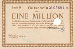 1 Million Mark, 1923 Deutsches Reich, Sach...