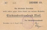 100000 Mark 1923 Deutsches Reich, Sachsen,...