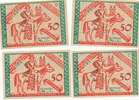 4 x 50 Pfennig 1921 Deutsches Reich,Provin...