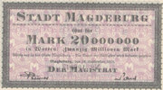 20 Millionen Mark 1923 Deutsches Reich,Pro...