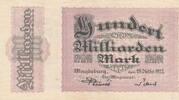100 Milliarden Mark 1923 Deutsches Reich,P...