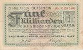 5 Milliarden Mark 1923 Deutsches Reich,Pro...