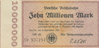 10 Millionen Mark, 1923 Deutsches Reich,We...