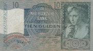 10 Gulden 1942 Niederlande Wz.Weintraube g...