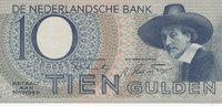 10 Gulden 1943 Niederlande  leicht gebrauc...