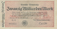 20 Milliarden Mark 1923 Deutsches Reich,We...