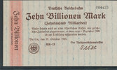 10 Billionen Mark 1923 Deutsches Reich,Wei...