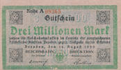 3 Millionen Mark, 1923 Deutsches Reich,Wei...