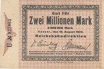 2 Millionen Mark, 1923 Deutsches Reich,Wei...