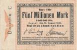 5 Millionen Mark, 1923 Deutsches Reich,Wei...