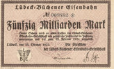 50 Milliarden Mark 1923 Deutsches Reich,We...