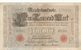 1000 Mark 1909 Deutsches Reich,Kaiserreich...