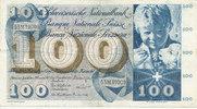 100 Franken 23.12.1965 Schweiz P49h gebrau...