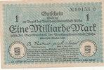 1 Milliarde Mark 1923 Deutschland,Sachsen,...