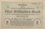 5 Milliarden Mark 1923 Deutschland,Sachsen...