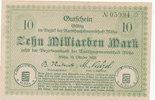 10 Milliarden Mark 1923 Deutschland,Sachse...