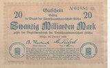20 Milliarden Mark 1923 Deutschland,Sachse...