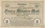 50 Milliarden Mark 1923 Deutschland,Sachse...