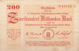 200 Milliarden Mark 1923 Deutschland,Sachs...