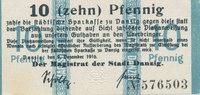 10 Pfennig 1916 Deutsches Reich,Danzig, Ma...