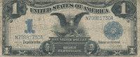1 Dollar 1899 USA Silver Certificate, star...