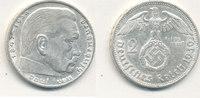 2 Reichsmark 1939 Mz.E Deutsches Reich,Dri...