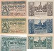 10,25,50 Pfennig 1919 Deutsches Reich, Sac...